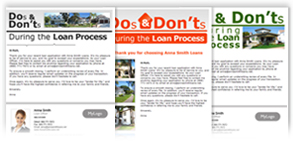 DOs & DONT's During the Loan Process